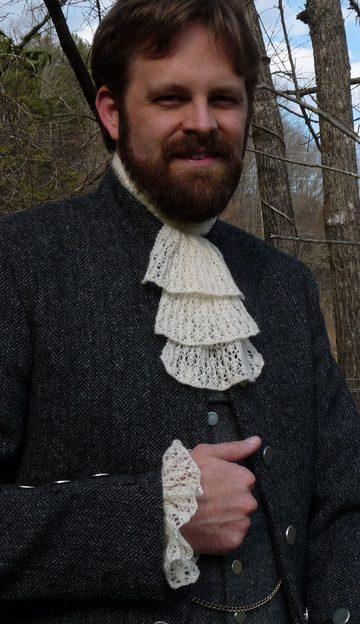 Free Knitting Pattern for Shetland Lace Jabot