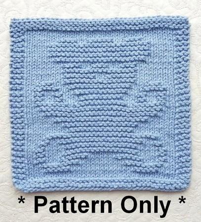 Knitting pattern for Teddy Bear Wash Cloth