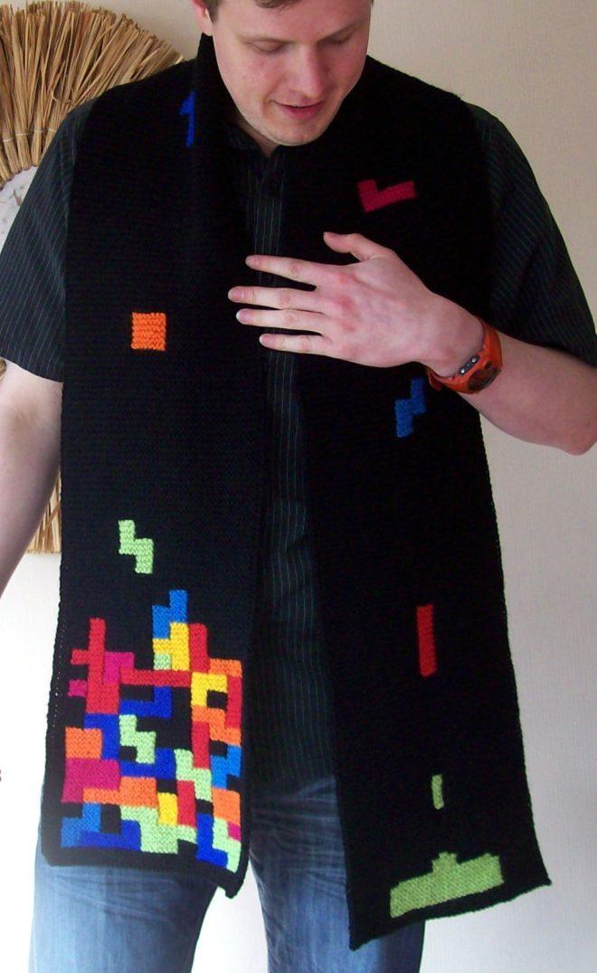 Knitting pattern for Tetris Scarf