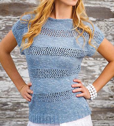Knitting pattern for Tuscarora tee top