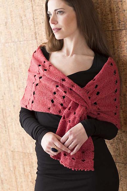 Knitting pattern for Japanese Lanterns Wrap