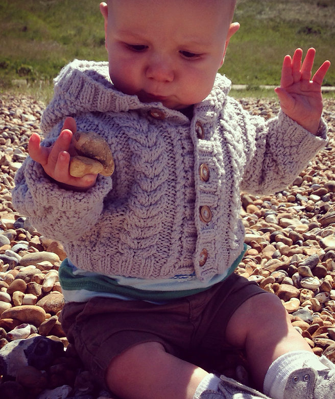Knitting Pattern Cable Hoodie : Little One Hoodie Knitting Patterns In the Loop Knitting