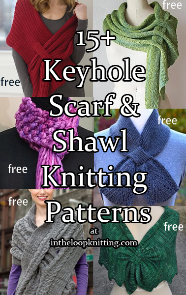 Self-Fastening Scarves and Shawls Knitting Patterns