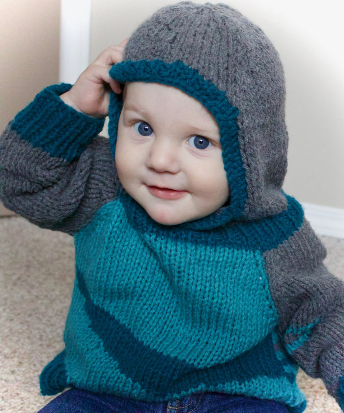 Free Knitting Pattern for Mason Hoodie
