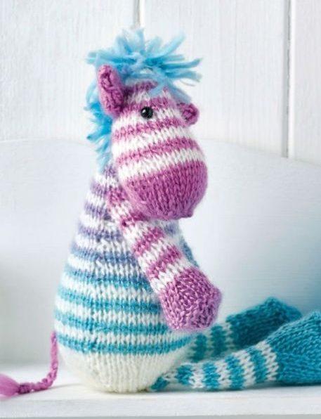 Free Knitting Pattern for Zac the Zebra