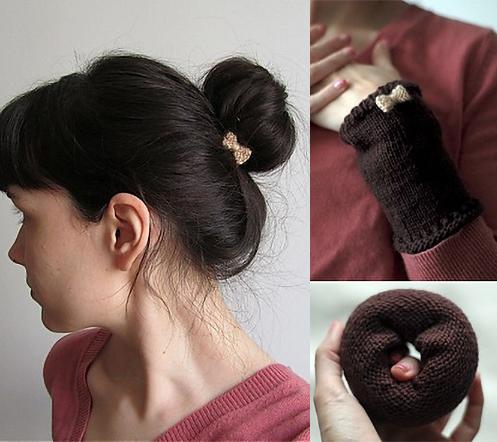 Free Knitting Pattern for Armwarmer / Sock Bun