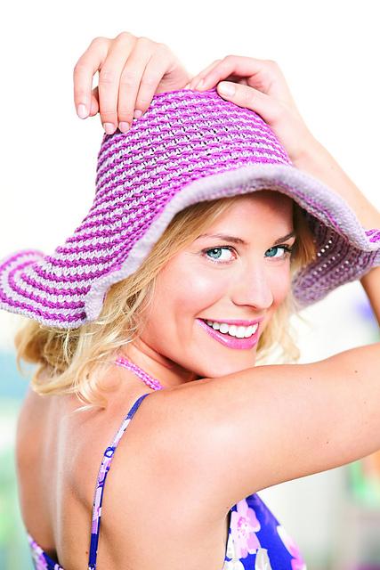 Free knitting pattern for Azealia Beach Hat