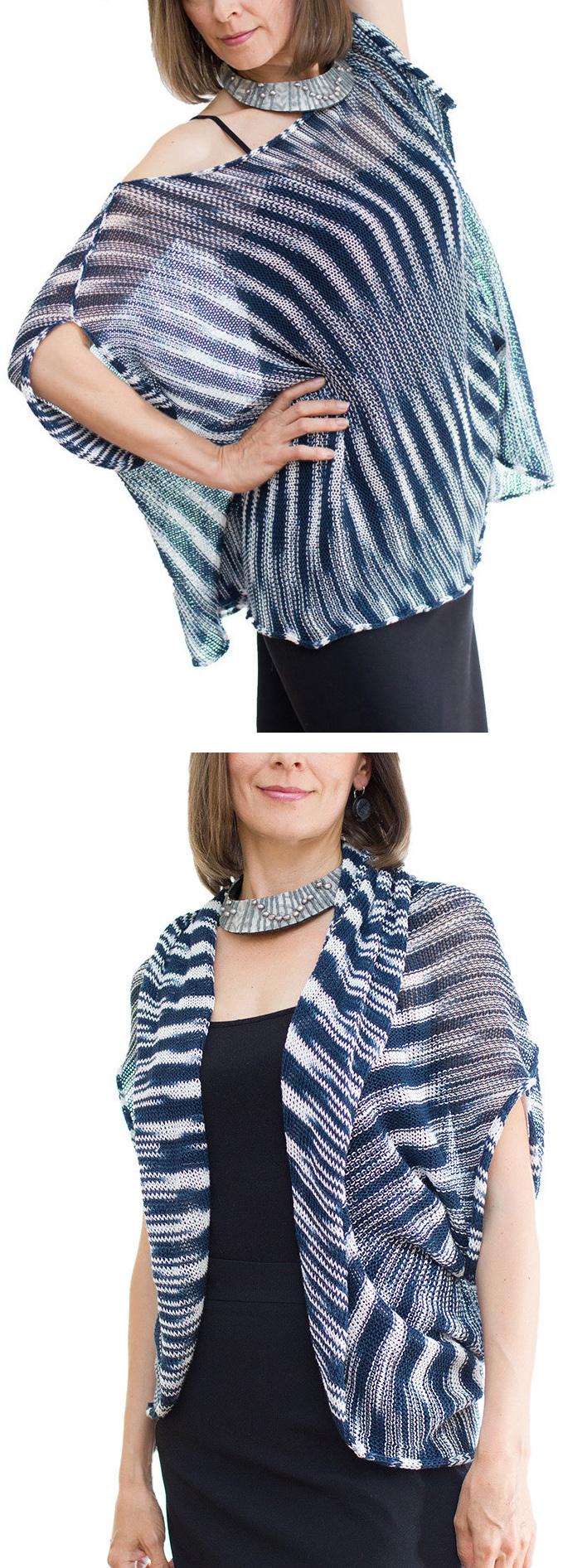 Knitting Pattern for Convertible Tunic / Bolero