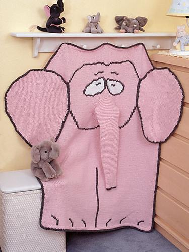 Free knitting pattern for Spencer the Elephant blanket