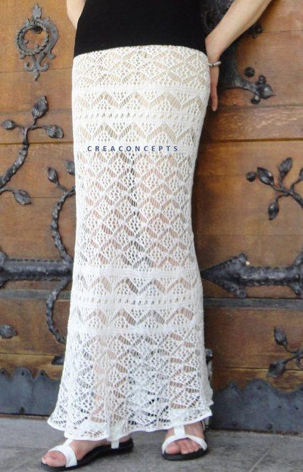 Knitting pattern for Shetland Lace Skirt