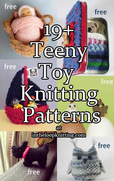 Teeny Toy Knitting Patterns