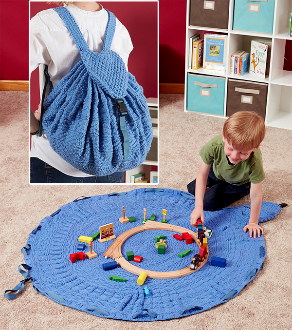 Knitting Pattern for Toy Tote