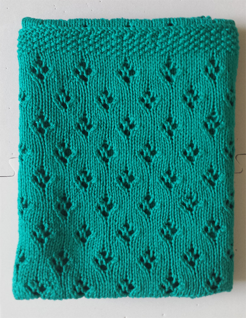 Free Knitting Pattern For Alex S Baby Blanket Easy With Tulip Lace