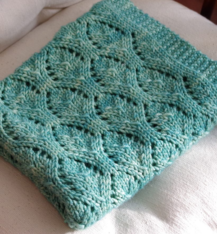 Free Knitting Pattern For Chalice Baby Blanket