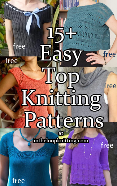 Easy Top Knitting Patterns