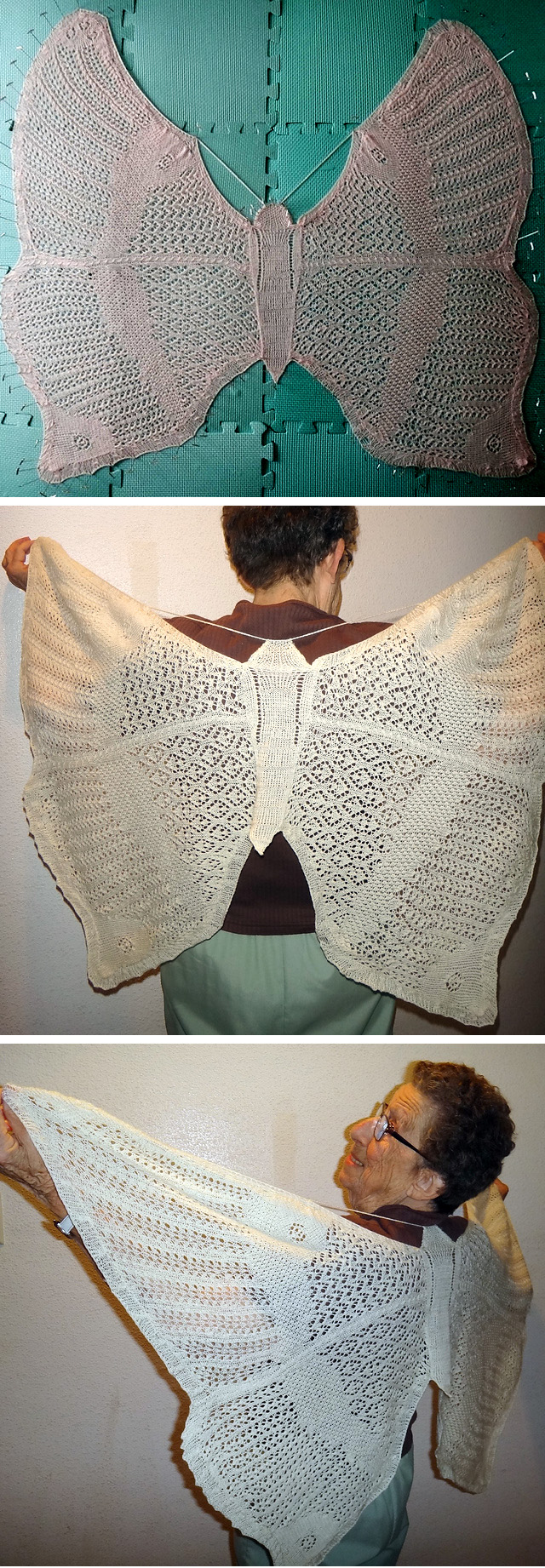 Knitting pattern for Just a Butterfly Shawl