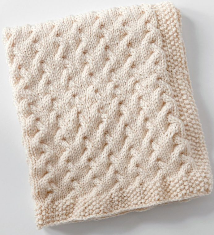 Free Knitting Pattern For Tiny Ripples Baby Blanket