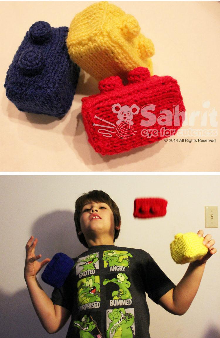 Free Knitting Pattern for Lego Juggling Balls
