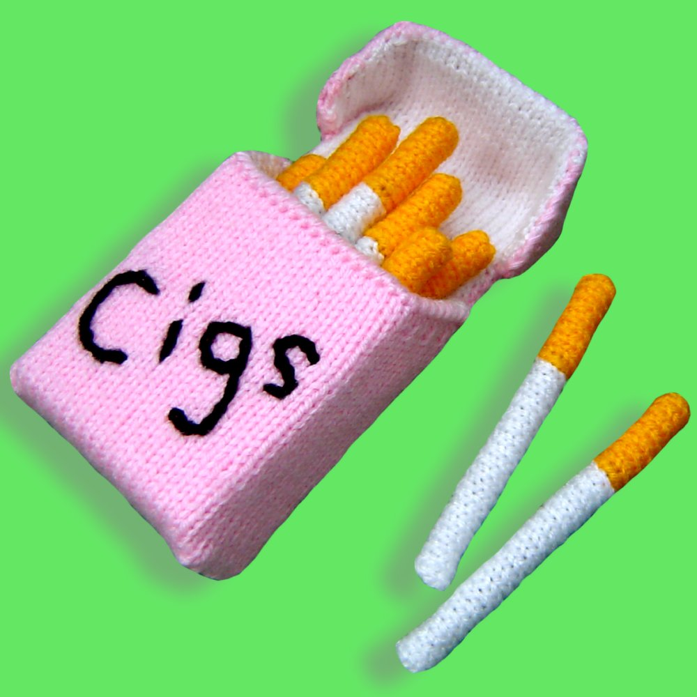 Free knitting pattern for Cigarette Pack