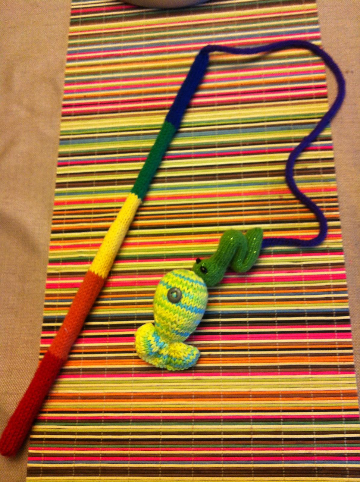 Free knitting pattern for Fishing Game
