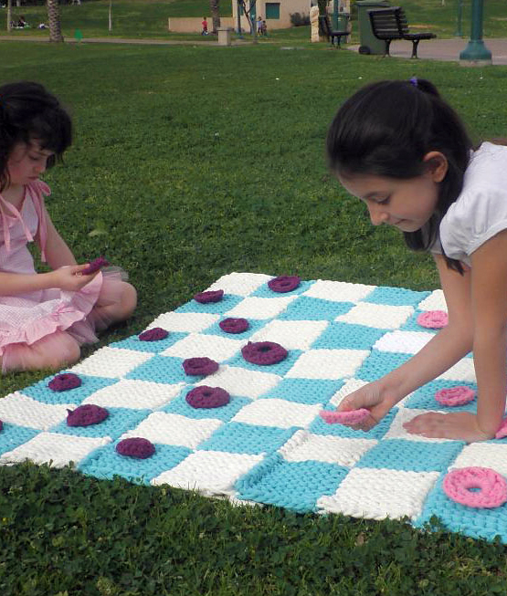 Free knitting pattern for Checkerboard Afghan