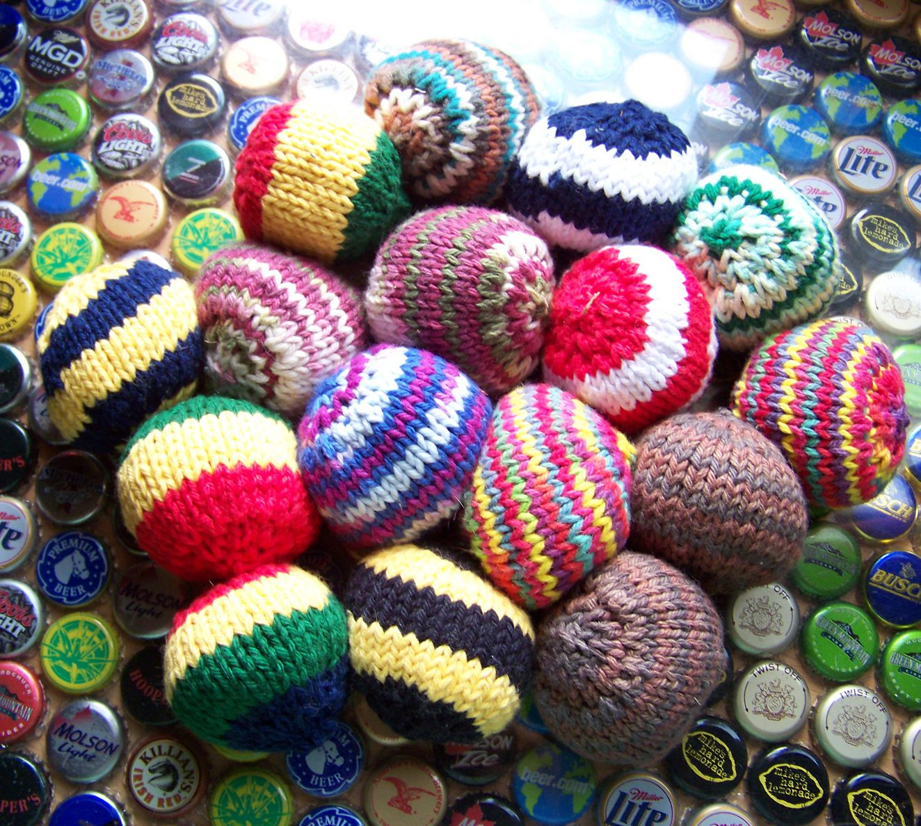Free Knitting Pattern for Hacky Sack