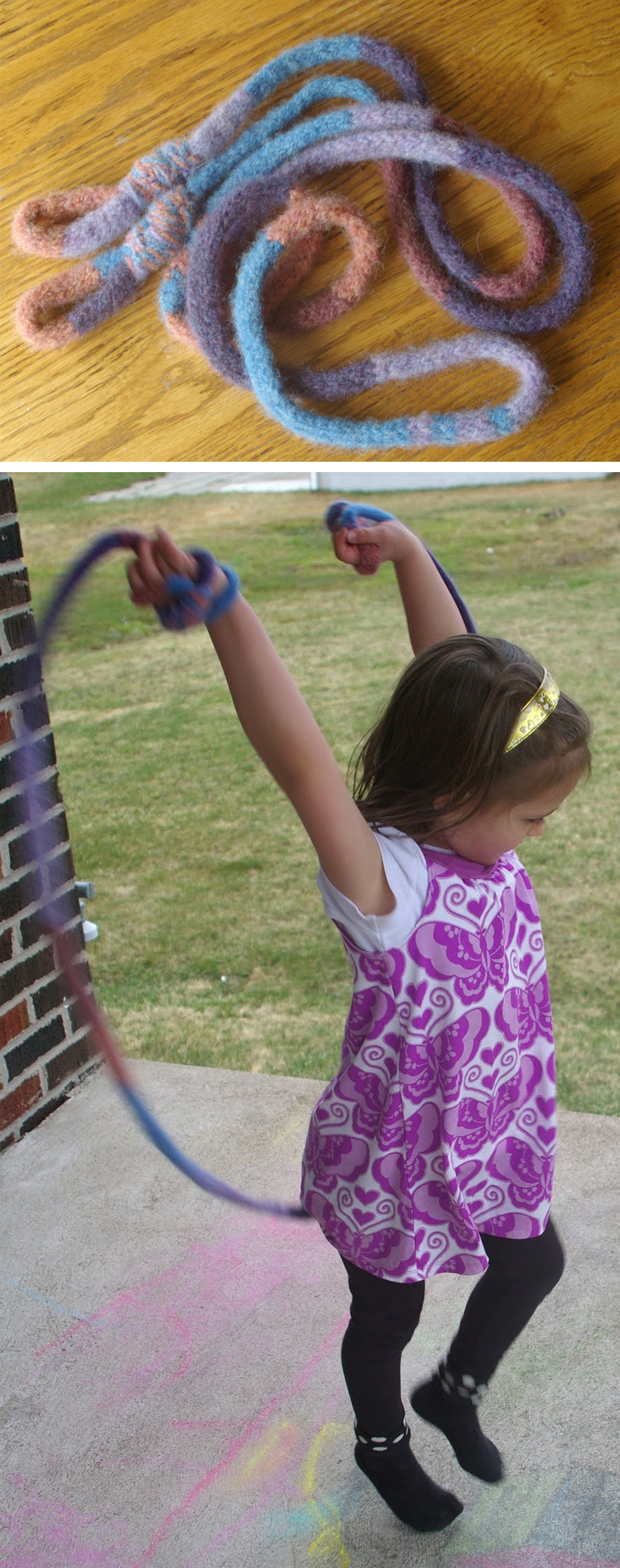 Free Knitting Pattern for I-Cord Jump Rope