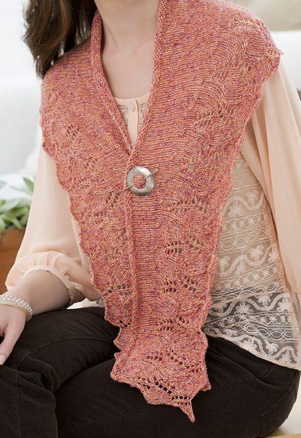 Free Knitting Pattern Lily Crescent Shawlette