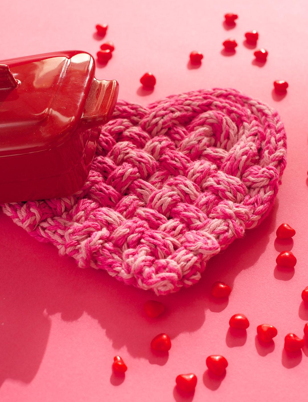 Free Knitting Pattern for True Love Trivet