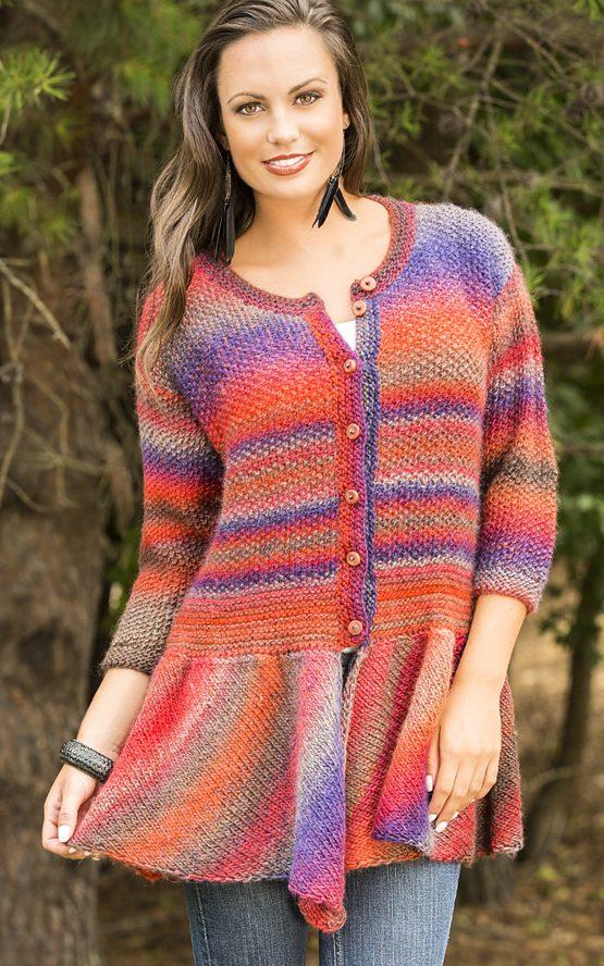 Free Knitting Pattern for Walking Bird Cardigan