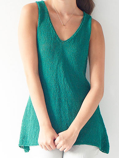 Free Knitting Pattern for Easy Filia Top