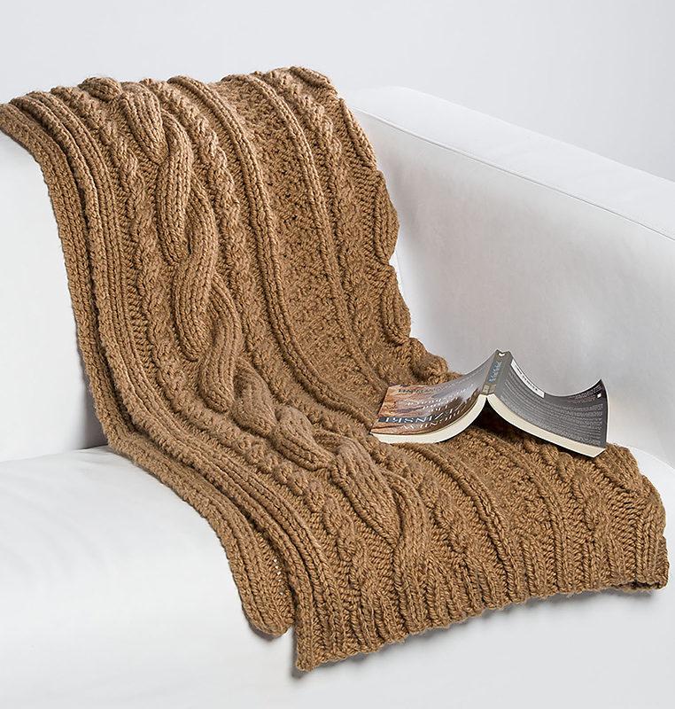 Free Knitting Pattern for Quick Honey Bun Blanket