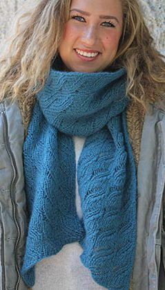 Knitting Pattern Lacy Leaves Scarf