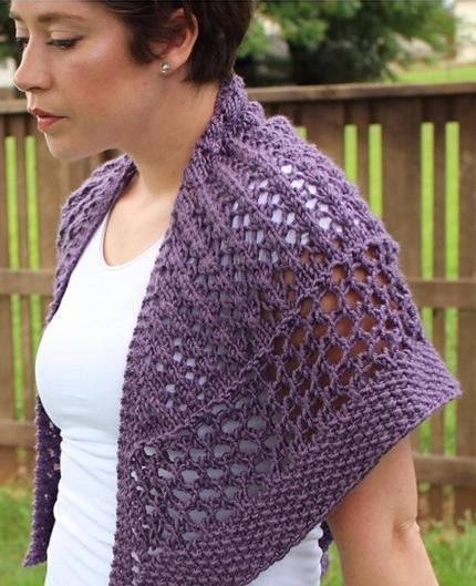 Knitting Pattern for Breeze Shawl