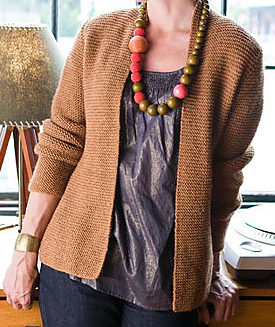 Free Knitting Pattern for Garter Stitch Cardigan Avocet B