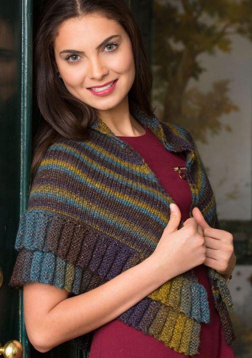 Free Knitting Pattern for Borealis Mitered Shawl
