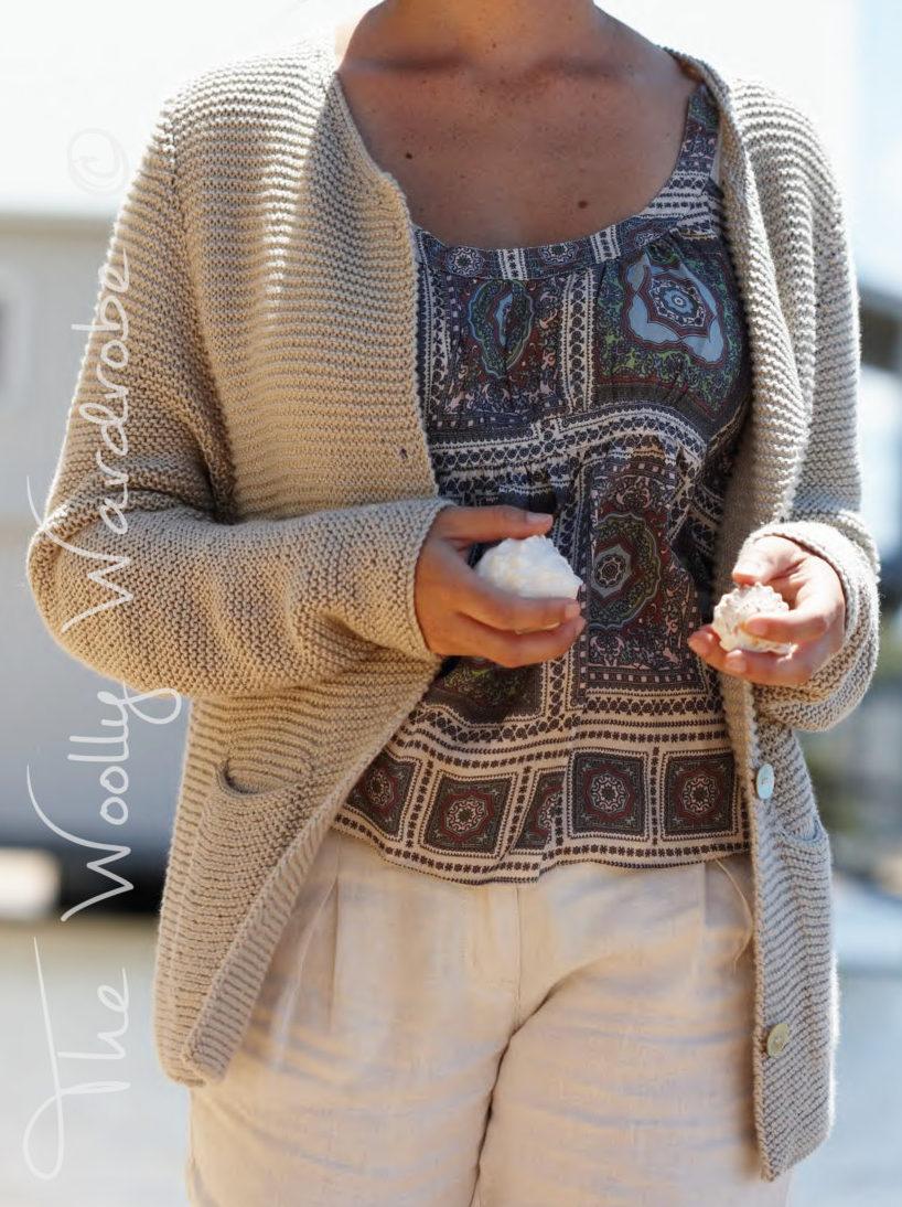 Knitting Pattern for Garter Stitch Britte Jacket