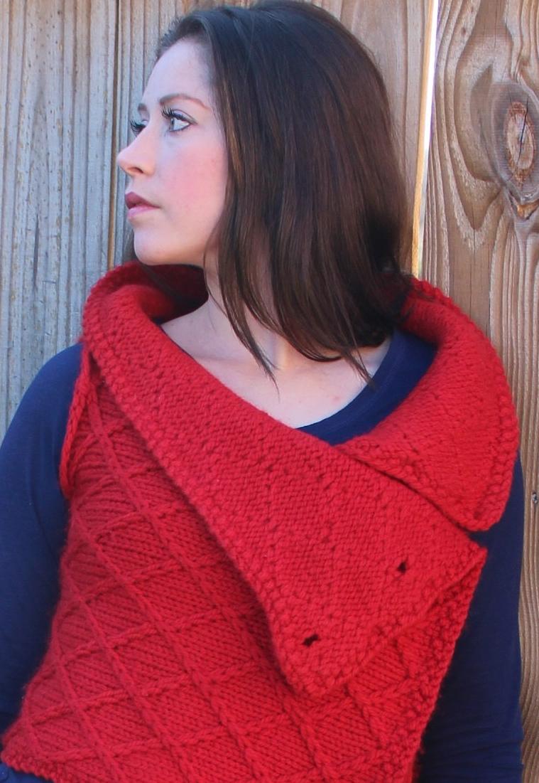 Knitting Pattern for Diamond Vest