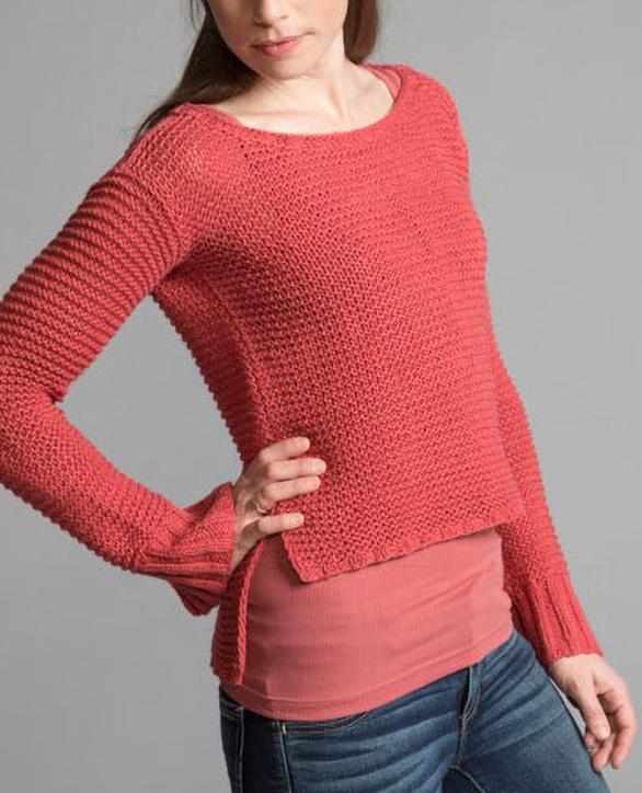 Free Knitting Pattern for Hanako Garter Pullover