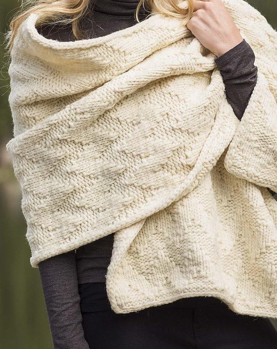 Knitting Pattern for Ozark Wrap