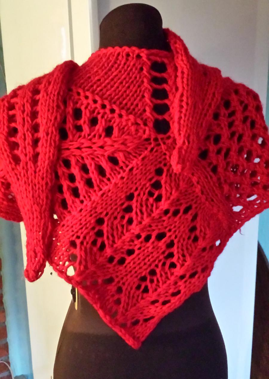 Free Knitting Pattern for Valdai Shawl