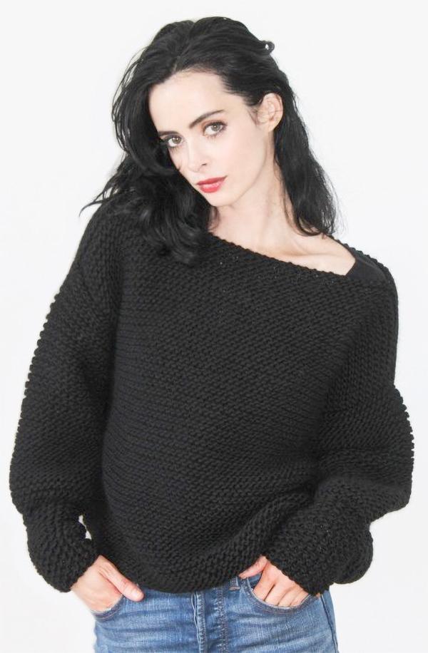 Knitting Kit for Easy Krysten Ritter Sweater