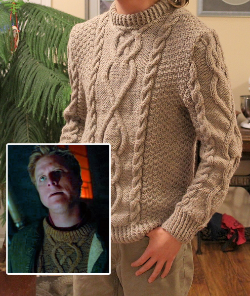 Free Knitting Pattern for Firefly Wash's Sweater