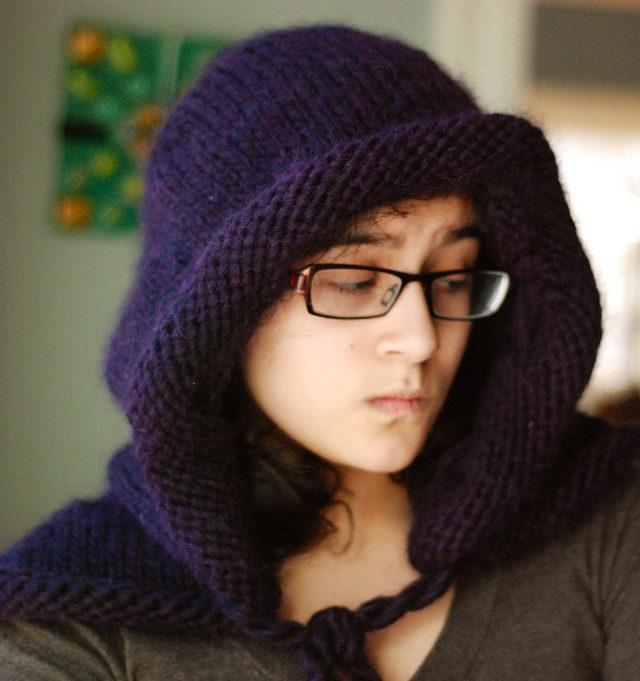 Free Knitting Pattern Helvellyn Hood