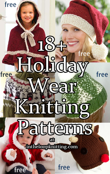 Holiday Wear Knitting Patterns