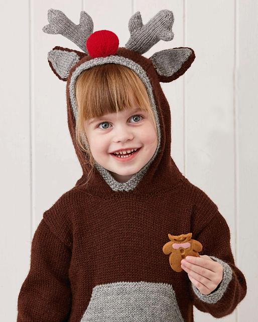 Knitting Pattern for Little Deer Hoodie
