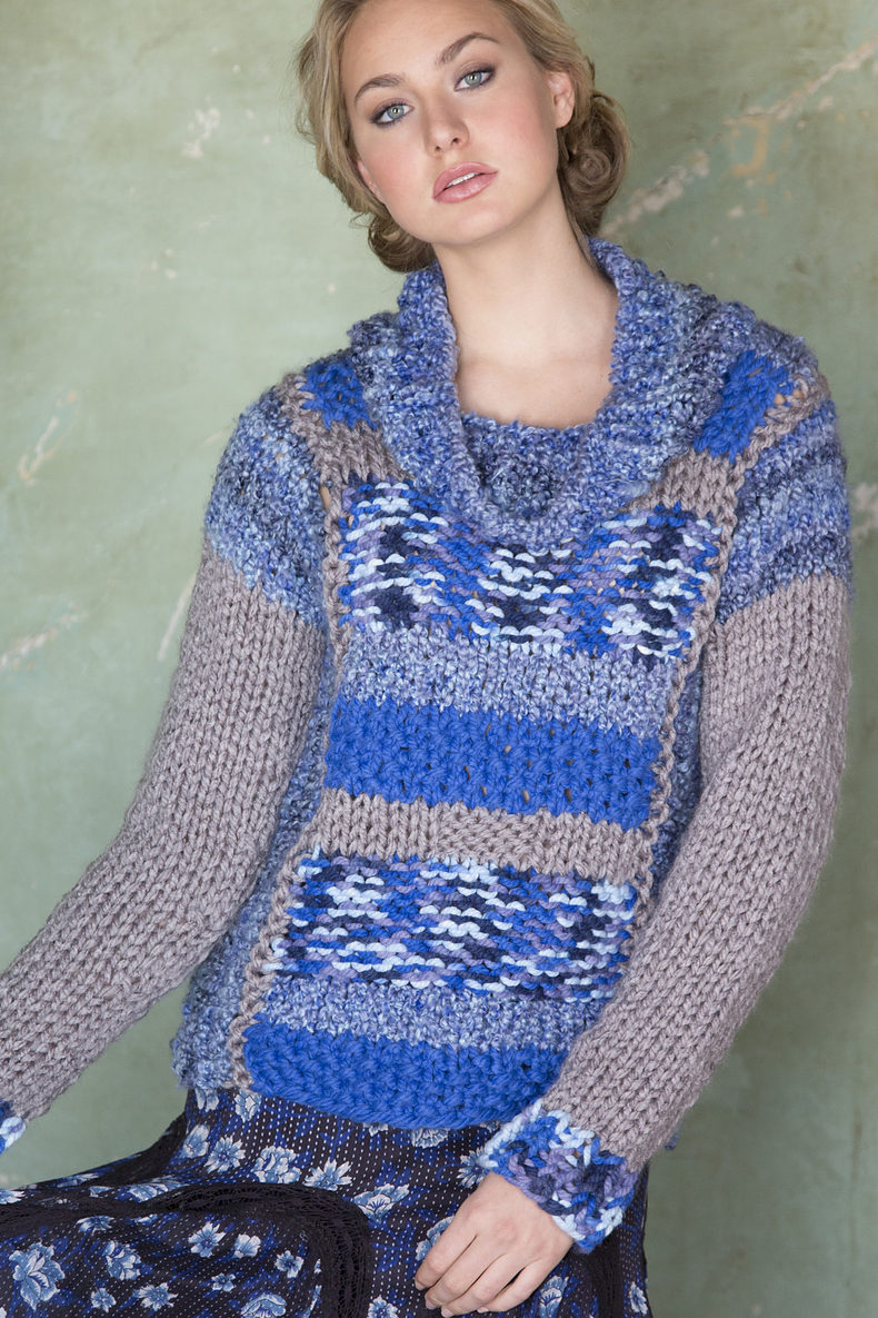 Free Mixed Textures Pullover