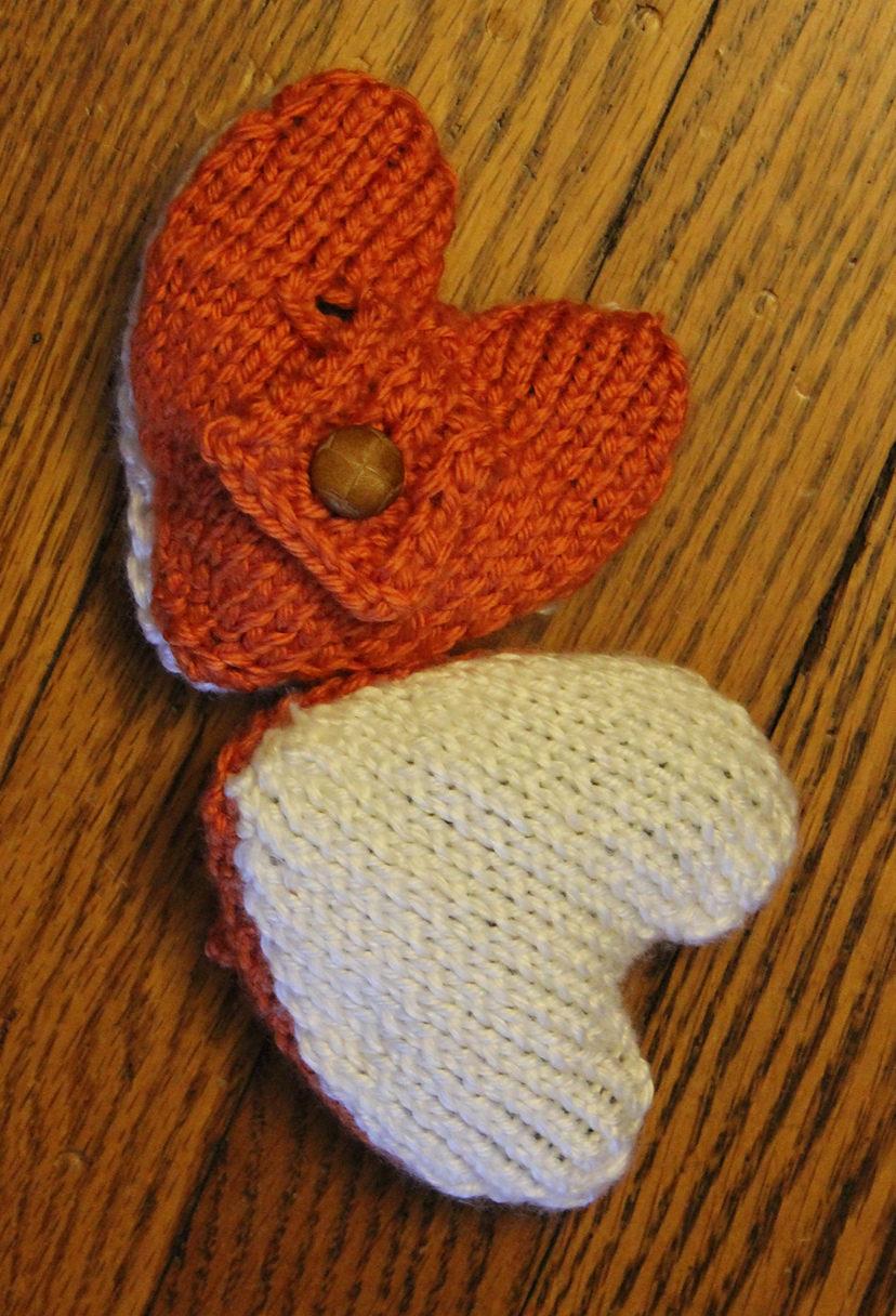 Free Knitting Pattern for Heartwarmers Heat Packs