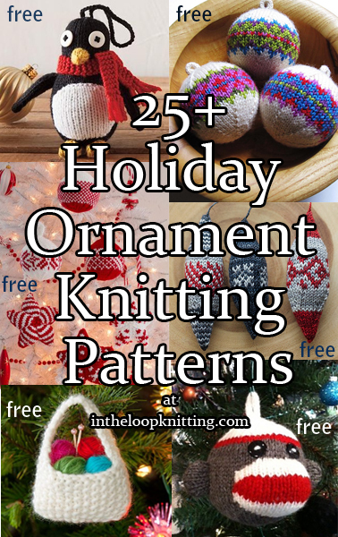 Holiday Ornaments Knitting Patterns