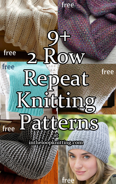 Two-Row Repeat Knitting Patterns